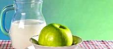 Кефирно-яблочная