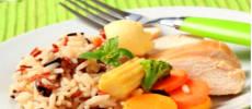 Рис, курица и овощи