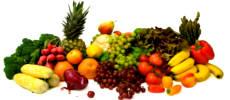 На овощах и фруктах